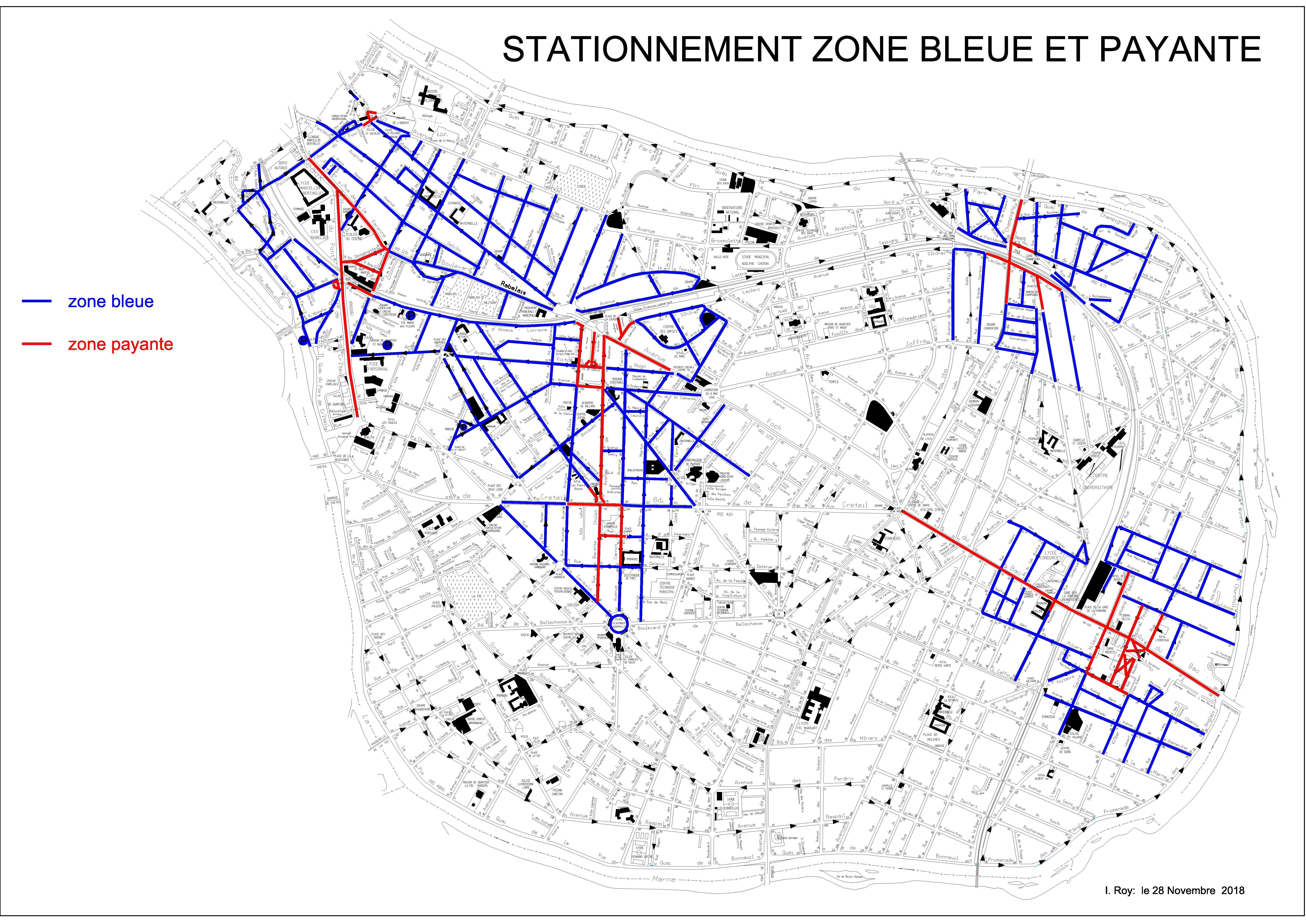 carte stationnement handicapé zone bleue Stationnement   Site officiel de Saint Maur